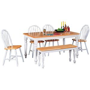 Coaster Damen 6 Piece Dining Set