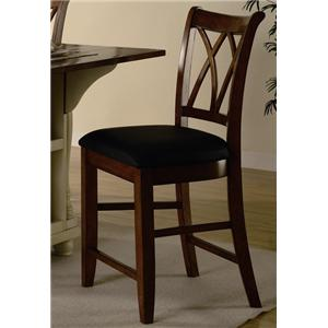 "Coaster Dining Chairs and Bar Stools 24"" Wood Bar Stool with Upholstered Seat"