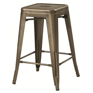 Coaster Dining Chairs and Bar Stools Bronze-Colored Metal Counter Height Stool