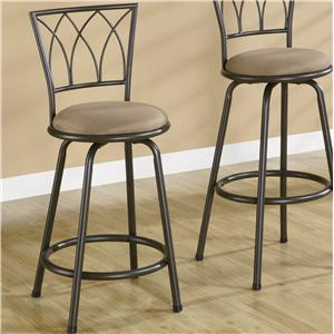 "Coaster Dining Chairs and Bar Stools 24"" Metal Bar Stool"