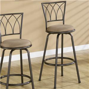 "Coaster Dining Chairs and Bar Stools 29"" Metal Bar Stool"