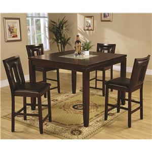 Coaster Ervin 5 Piece Counter Height Table Set
