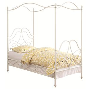 Coaster Iron Beds and Headboards Twin Canopy Bed