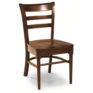 Cochrane Downtown: Solid Mahogany Ladder Back Side Chair