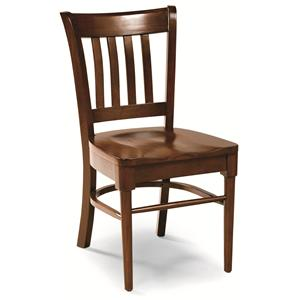 Cochrane Downtown: Solid Mahogany Slat Back Side Chair