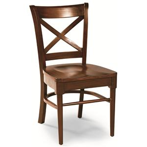 Cochrane Downtown: Solid Mahogany X-Back Side Chair