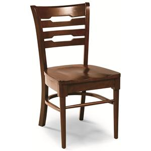 Cochrane Downtown: Solid Mahogany Contemporary Back Side Chair