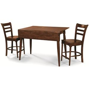 Cochrane Downtown: Solid Mahogany 3-Piece Gathering Table Set