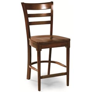 Cochrane Downtown: Solid Mahogany Ladder Back Counter Stool