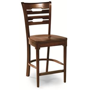 Cochrane Downtown: Solid Mahogany Contemporary Back Counter Stool