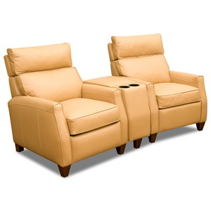 Two Seat Reclining Theater Sect W High Leg