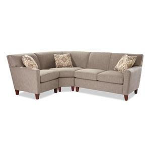 Craftmaster 7864 3 Pc Sectional Sofa w/ RAF Loveseat