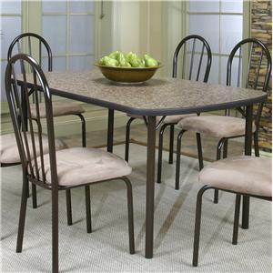 Cramco, Inc Cramco Dinettes - Heath Woodstock Granite Laminate Top Table