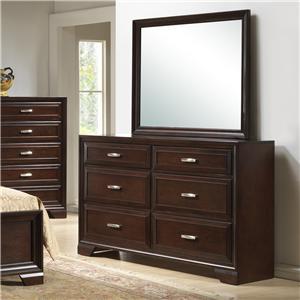 Crown Mark  B6510 Dresser & Mirror