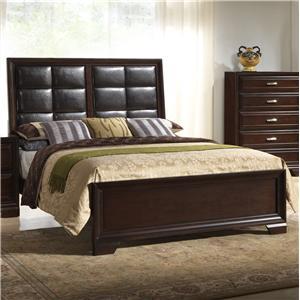 Crown Mark  B6510 King Upholstered Bed
