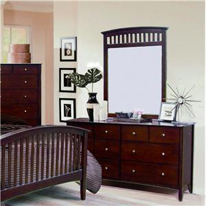 Crown Mark Lawson  Dresser & Mirror Combo