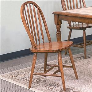 Crown Mark Windsor Solid Dark Oak Side Chair