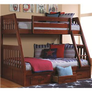 Discovery World Furniture Merlot Twin/Full Bunk Bed