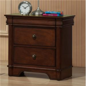 Elements International Taylor  Nightstand