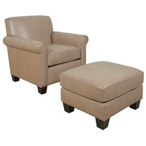 England Valdez Chair and Ottoman
