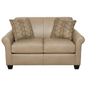 England Valdez Rolled Arm Love Seat