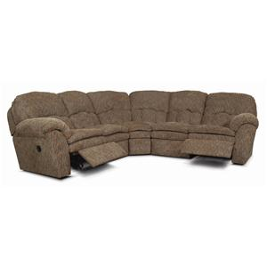 England Oakland Upholstered Reclining Sectional