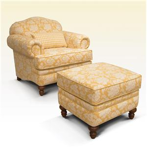 England Whitney Upholstered Chair & Ottoman