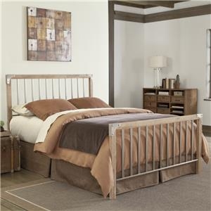 Fashion Bed Group Wood and Metal Beds Queen Esquire Bed without Frame