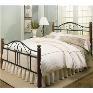Fashion Bed Group Wood and Metal Beds Queen Weston Bed w/ Frame