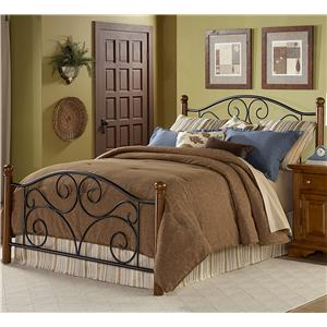 Fashion Bed Group Wood and Metal Beds King Doral Bed w/ Frame