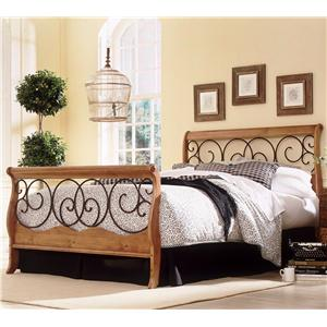 Fashion Bed Group Wood and Metal Beds King Dunhill I Bed w/ Frame