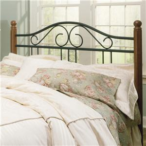 Fashion Bed Group Wood and Metal Beds Queen Weston Headboard
