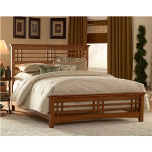 Fashion Bed Group Wood Beds Queen Avery Bed w/ Wood Side Rails