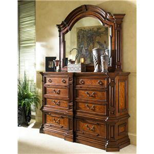 Fine Furniture Design Viniterra Double Dresser and Landscape Mirror