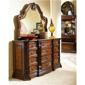 Fine Furniture Design Viniterra Triple Dresser and Carved Mirror