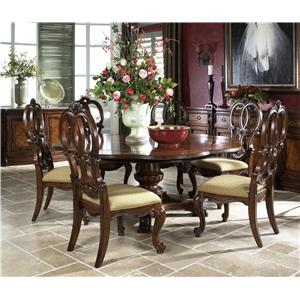 Fine Furniture Design Viniterra Pedestal Dining Table and 6 Side Chairs