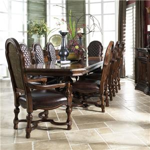 Fine Furniture Design Viniterra 9-Piece Double Pedestal Table with 8 Chairs