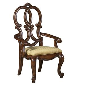 Fine Furniture Design Viniterra Carved Back Arm Chair