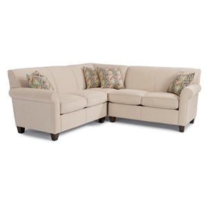 Flexsteel Dana 3 Pc Corner Sectional Sofa