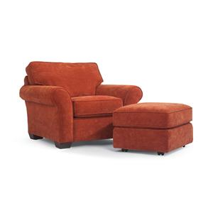 Flexsteel Vail Vail Chair and Ottoman