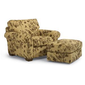 Flexsteel Vail Vail Chair and Ottoman