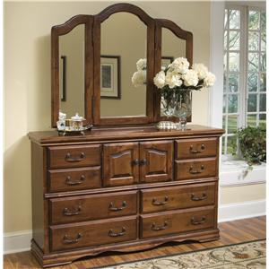 Furniture Traditions Alder Hill Dresser and Mirror Combo