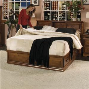 Furniture Traditions Alder Hill Queen Hamilton Headboard Bed with Storage