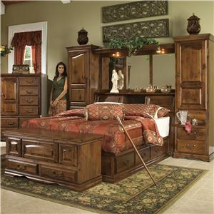 Furniture Traditions Alder Hill Queen Pier Group Bed