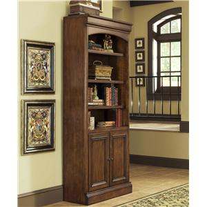 Golden Oak by Whalen Villa Tuscano Bookcase With Doors