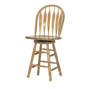 "GS Furniture American Classic 24"" Casual Monarch Swivel Stool"