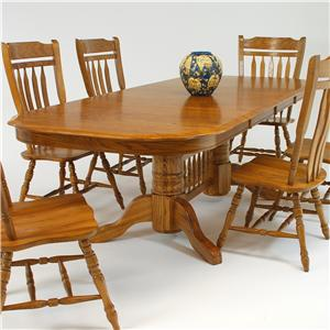 "GS Furniture American Classic Rectangular Dining Table with 18"" Leaf"