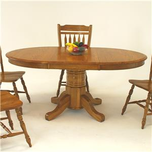 "GS Furniture American Classic Oval Dining Table with 21"" Leaf"