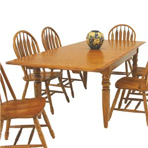 "GS Furniture American Classic Rectangular Dining Table with Two 15"" Leaves"