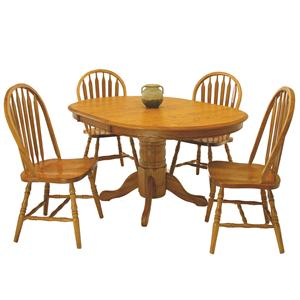 GS Furniture American Classic 5-Piece Round Table & Side Chair Set